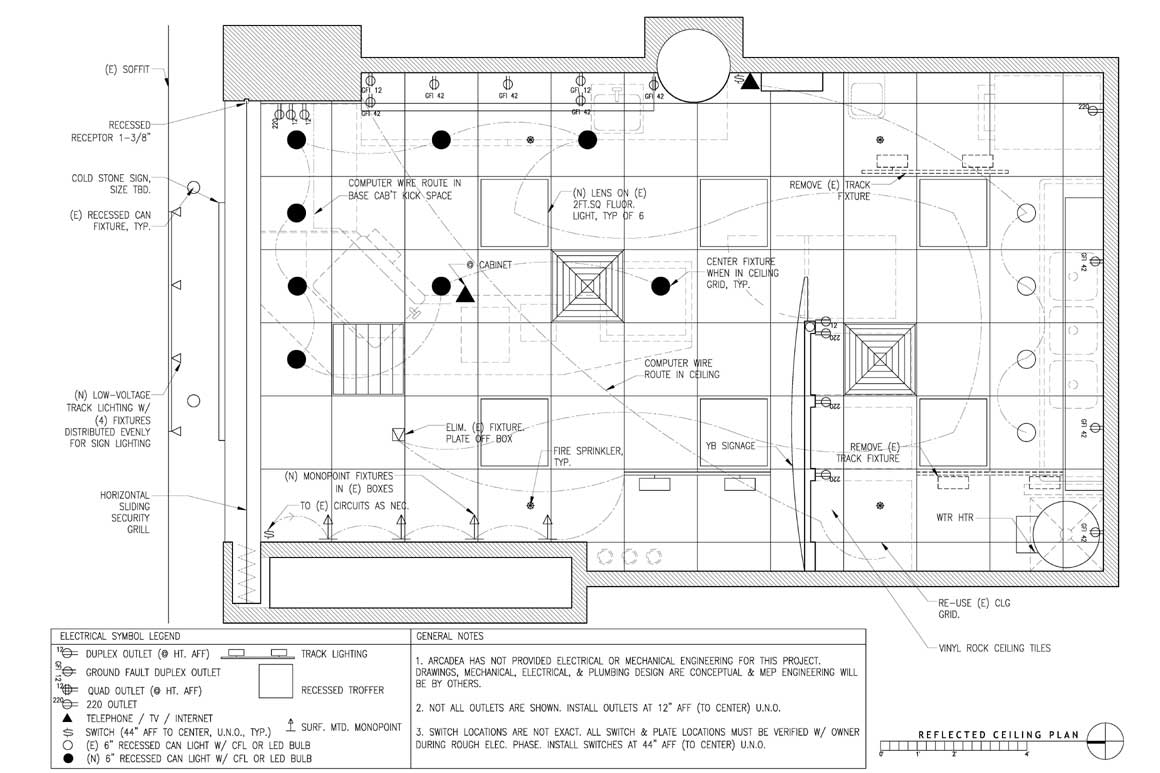 Restaurants Arcadea Architecture Wiring Outlets Parallel Or Series Mechanical And Lighting Plan